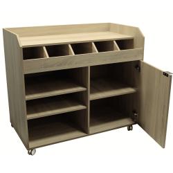 Vaisselier de brasserie bas (H) 980 mm en bois aggloméré, bois clair EQUIPEMENT DIRECT Vaisseliers et dessertes