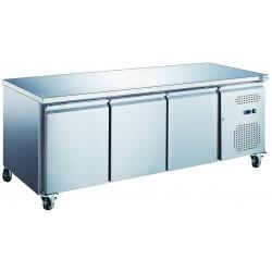 Table 417L réfrigérée 3 portes inox