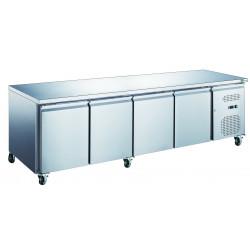 Table 449L réfrigérée 4 portes inox
