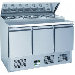 Saladette 392 Litres 3 portes inox AFI Collin Lucy Saladettes