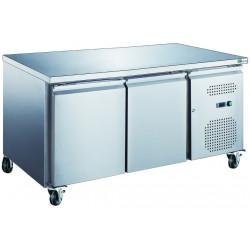 Table 228L réfrigérée 2 portes inox