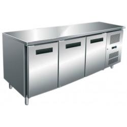Table 465L réfrigérée 3 portes inox