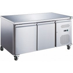 Table 390L positive 2 portes inox
