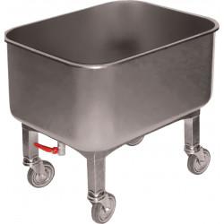 Cuve roulante 80 L + robinet de vidange - inox L2G Cuves roulantes