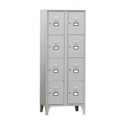 Armoire / Vestiaire 2 colonnes - 8 cases - acier  L2G Casiers / Vestiaires