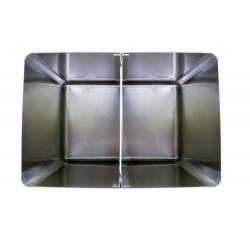 Bac à sel / farine 130 L avec couvercle amovible - inox L2G Cuves roulantes