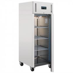 Réfrigérateur PRO 1 porte tout inox 650 litres POLAR Armoires positives (+1°C+6°C)