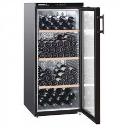 Cave à vins 164 bouteilles - 1 zone mono-température & porte vitrée - Liebherr