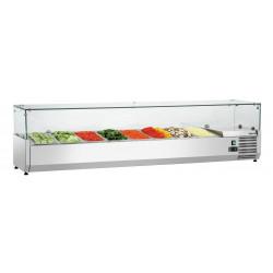 Présentoir réfrigéré 8 x GN 1/3 - L 1800 x P 400 x H 425 mm Bartscher Vitrines à ingrédients