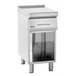 Élément de travail L 400 x P 700 mm - soubassement ouvert - inox Bartscher Tables sur placard