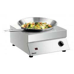 Wok à induction 3500 W - surface de cuisson Ø 293 mm - inox