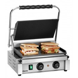 Grill Panini 2200 W - Nervuré / Lisse - inox Bartscher Paninis