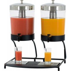 Distributeur double de jus - 2 x 8 Litres - ABS CASSELIN Distributeurs de boissons froides