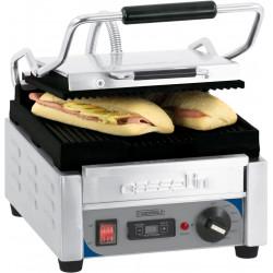 Petit grill Panini Rainuré - L 300 x P 490 x H 265 mm - minuteur - inox