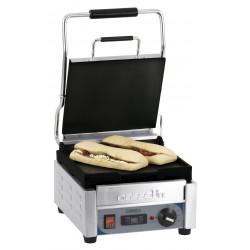 Petit grill Panini lisse - L 300 x P 490 x H 265 mm - minuteur - inox