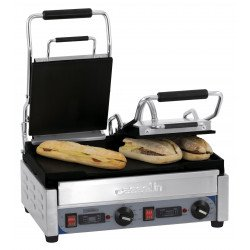 Grand grill Panini double lisse - L 490 x P 520 x H 265 mm - minuteur - inox CASSELIN Paninis