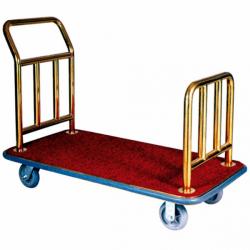 Porte-valise de luxe - L 1240 x P 640 x H 940 mm - doré - laiton EQUIPEMENT DIRECT Chariots à bagages