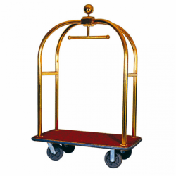 Porte-valise de luxe + coupole - L 1135x P 620 x H 1900 mm - doré - laiton