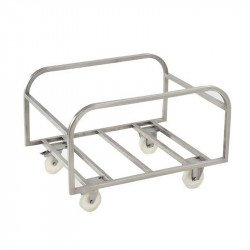 Chariot support pour grand bac 310 Litres - inox