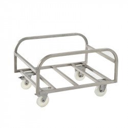 Chariot support pour grand bac 220 Litres - inox