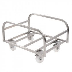 Chariot support pour grand bac 100 Litres - inox