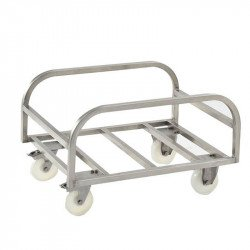 Chariot support pour grand bac 170 Litres - inox