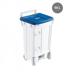 Container avec porte 90 Litres - couvercle bleu - Polaris Gilac Poubelles