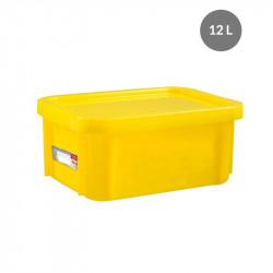 "Bac ""plat témoin"" 12 Litres + couvercle - jaune Gilac Bacs petits volumes"