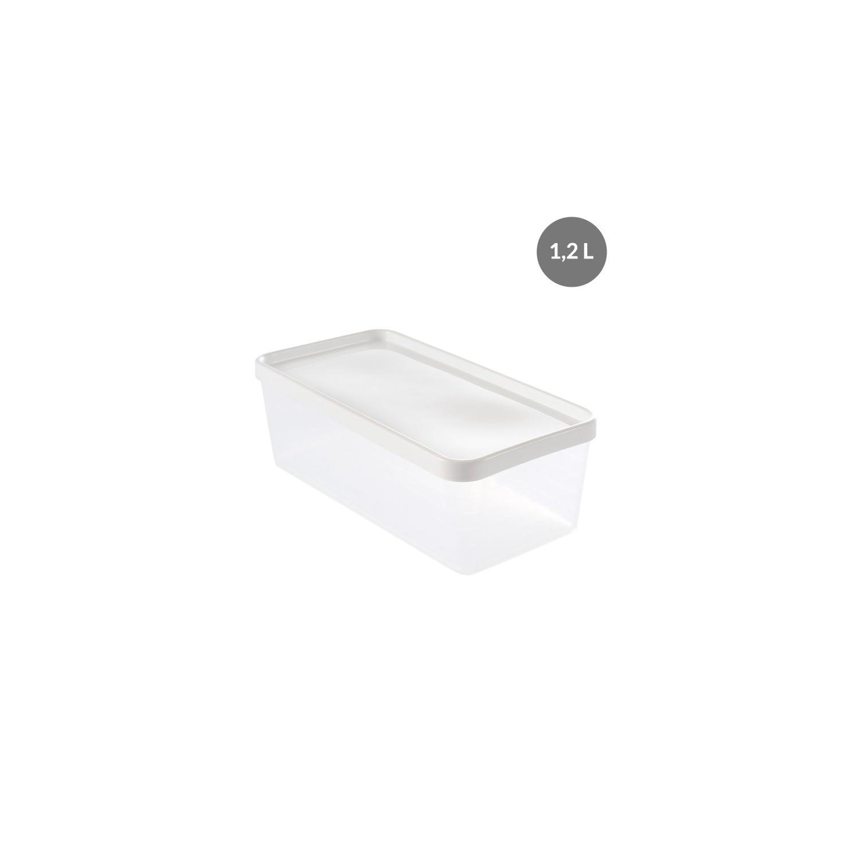 Boite Rangement Hermétique Cave boîte hermétique 1,2 litres - blanc - polypropylène gilac
