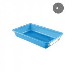 Bac plat 3 Litres - bleu - HACCP