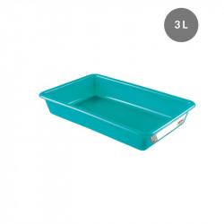 Bac plat 3 Litres - vert - HACCP