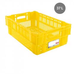 Caisse liaison froide 37 L - jaune Gilac Bacs métiers