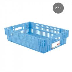Caisse liaison froide 27 L - bleu Gilac Bacs métiers
