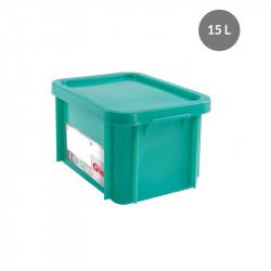 Bac 15 Litres rectangulaire + couvercle - HACCP - vert Gilac Bacs de stockage renforcés