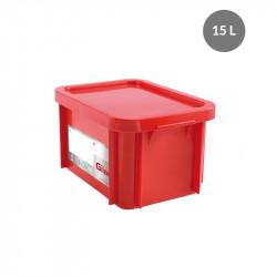 Bac 15 Litres rectangulaire + couvercle - HACCP - rouge Gilac Bacs de stockage renforcés