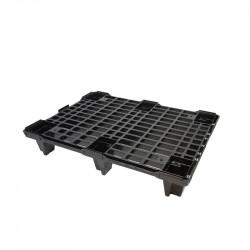 Palette légère emboîtable L 800 x P 600 x H 130 mm - noir Gilac Manutention et stockage
