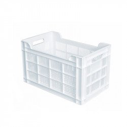 Caisse 32 Litres ajourée - L 300 x P 500 x H 300 mm - blanc Gilac Caisses de transports