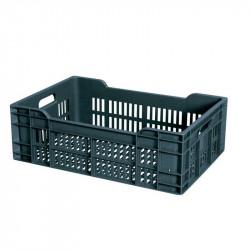 Caisse 40 Litres ajourée - L 400 x P 600 x H 200 mm - gris Gilac Caisses de transports