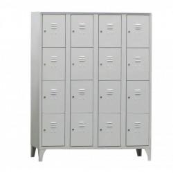 Armoire/Vestiaires 4 colonnes - 16 cases - acier  L2G Casiers / Vestiaires