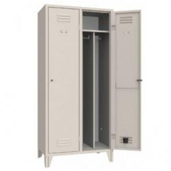 Armoire/vestiaires 2 colonnes, 2 casiers, pour industrie salissante, acier EQUIPEMENT DIRECT Casiers / Vestiaires