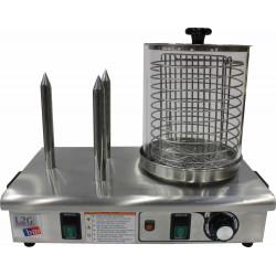 Chauffe-saucisses électriques 550 W - 3 zones Ø 200 mm - (H) 250 mm - inox