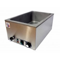 Bain marie GN 1/1 (P) 150 mm + robinet de vidange - 90°C max - inox EQUIPEMENT DIRECT Bains-Marie