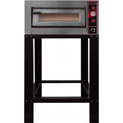 Four électrique 6000 W - 6 pizza Ø 300 mm - Chambre : L 620 x P 920 x H 150 mm - inox
