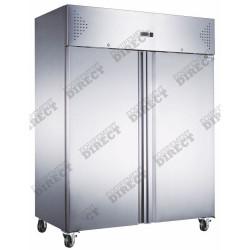 Armoire 1300L négative 2 portes inox  AFI Collin Lucy Armoires négatives (-18°C-22°C)