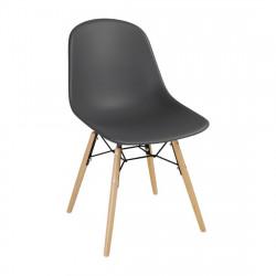 Lot de 2 Chaises moulée PP avec structure métallique Bolero grise BOLERO Chaises