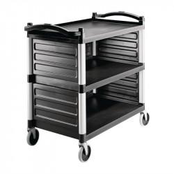 Jeu de panneaux d'étagères pour chariot utilitaire en polyéthylène - Cambro pour CT400