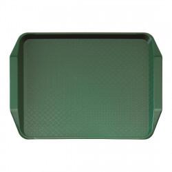 Plateau rectangulaire L 430 x P 300 mm à poignées - vert - polypropylène