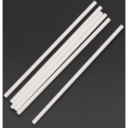 Lot de 250 pailles L 210 mm, en papier blanches