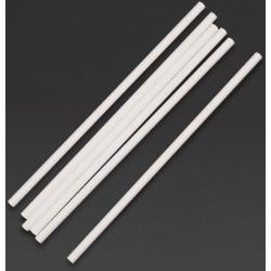 Lot de 250 pailles L 210 mm, en papier blanches EQUIPEMENT DIRECT Produits à usage unique