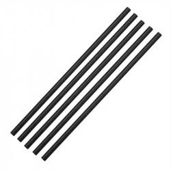 Lot de 250 pailles L 210 mm, en papier noires